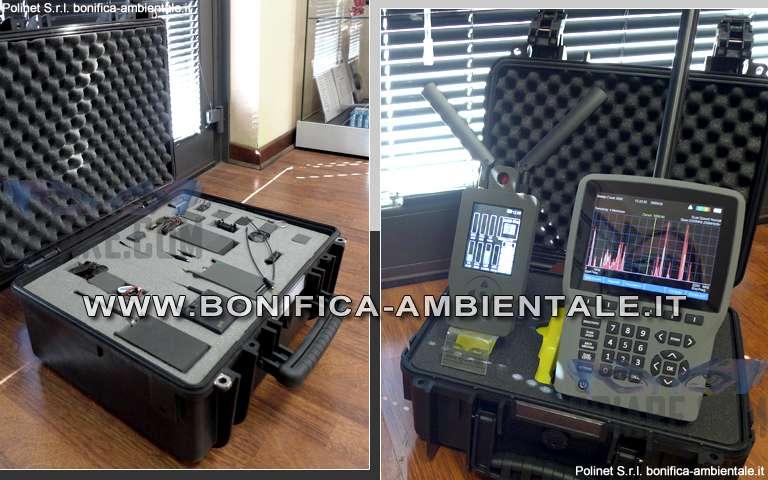 Bonifica Microspie - Strumenti per rilevamento di dispositivi spy trasmittenti e valigia con microspie.