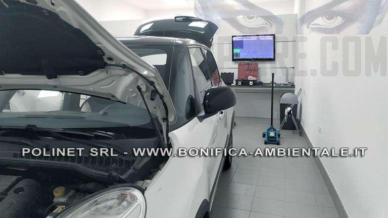 Costo di 350,00 Euro per bonifica auto presso il nostro laboratorio tecnico a Roma